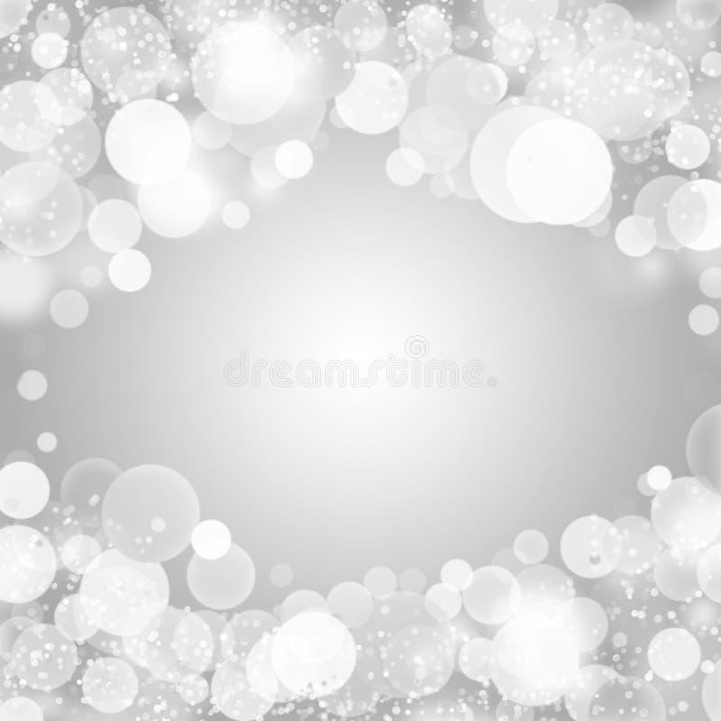 De winterlicht bokeh royalty-vrije stock fotografie