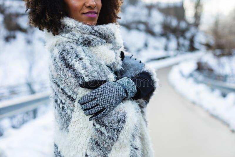 De wintermanier en uitrustingsconcept stock fotografie