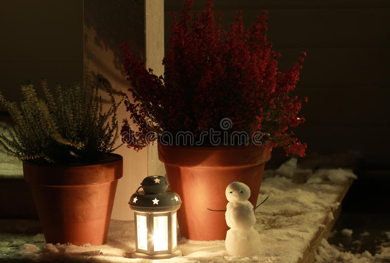 De winternacht royalty-vrije stock fotografie