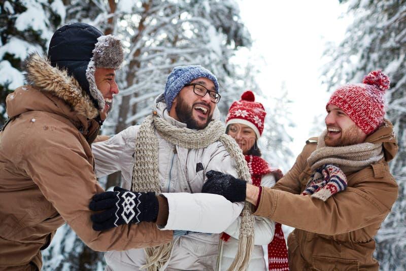De winterontmoetingsplaats stock foto