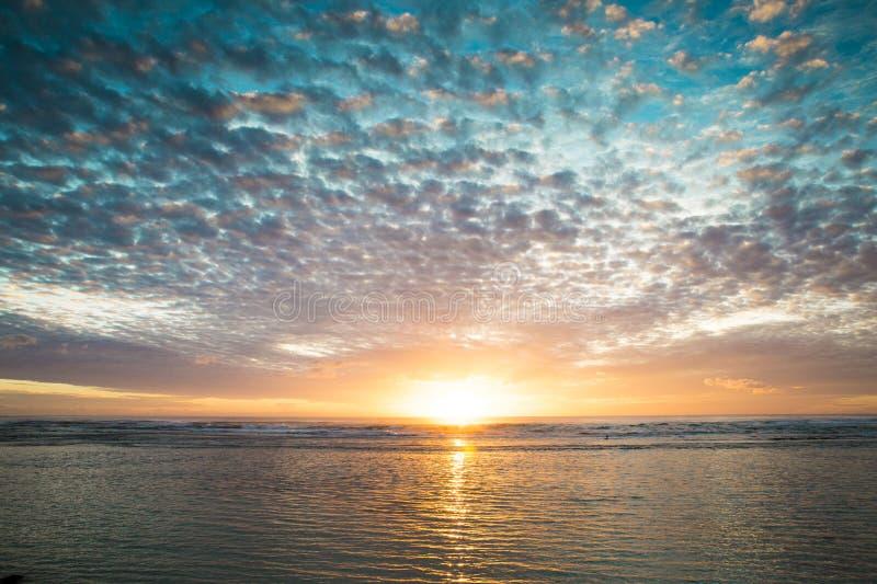 De Winteronweer van zonsondergangaustralië royalty-vrije stock foto