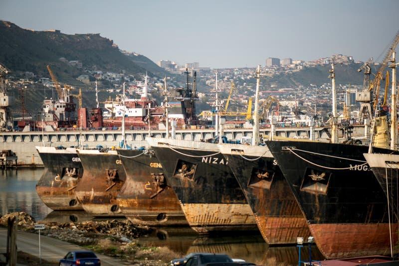 De winteropslag van de Kaspische Vloot stock afbeelding