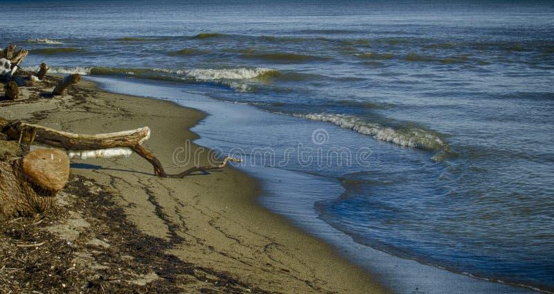 De winteroverzees royalty-vrije stock afbeelding