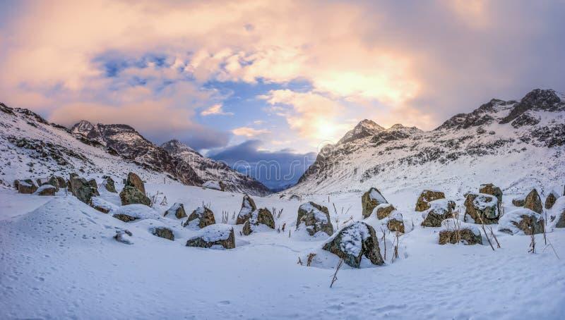 De winterparadijs met heel wat sneeuw royalty-vrije stock foto's