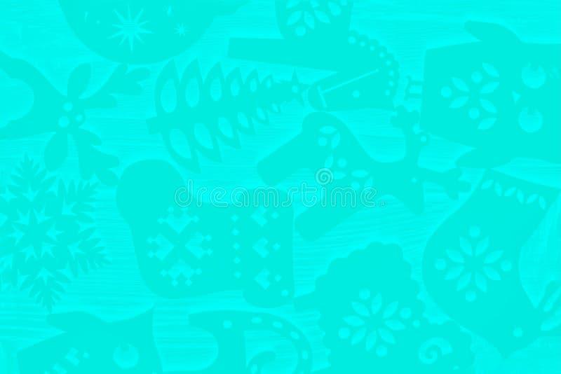 De winterpatroon E Ultra groene muntkleur stock afbeeldingen