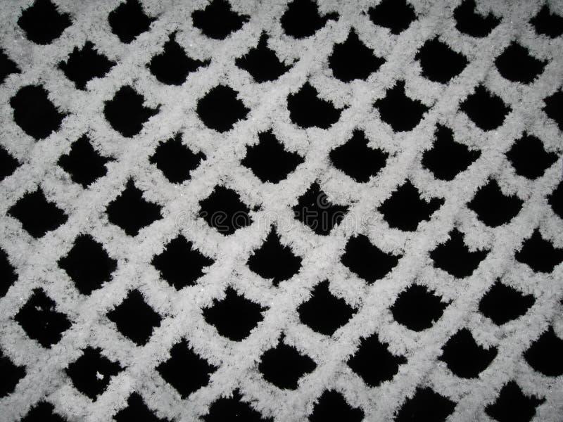 De winterpatroon - het bevroren opleveren royalty-vrije stock afbeelding