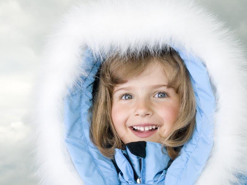 De winterportret van het meisje royalty-vrije stock afbeelding