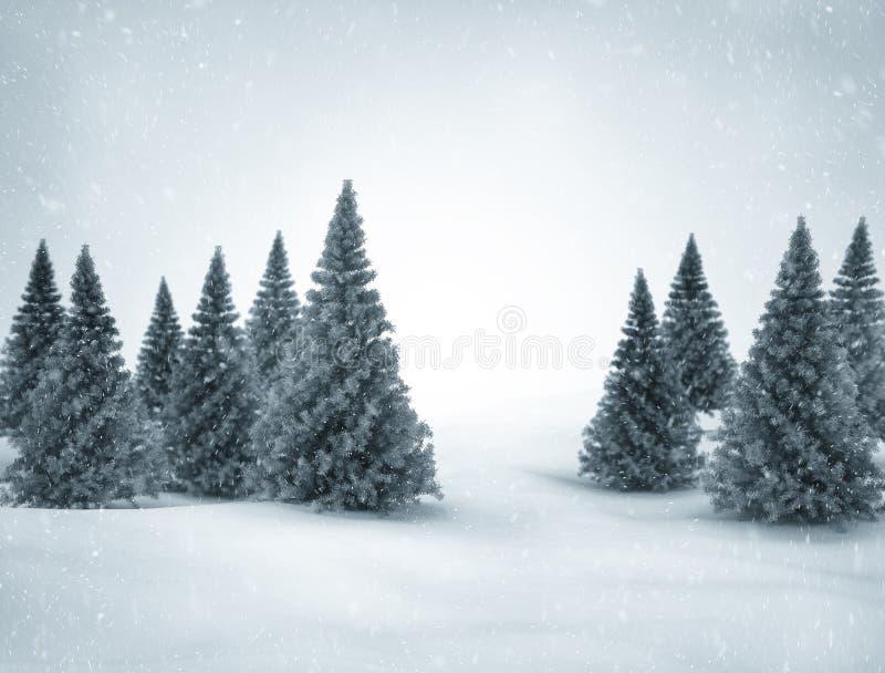 De winterscène stock illustratie