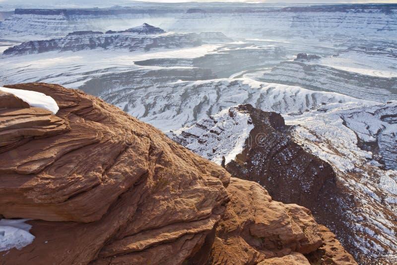 De dode Richel van het Punt van het Paard & Butte van de Piramide royalty-vrije stock foto's