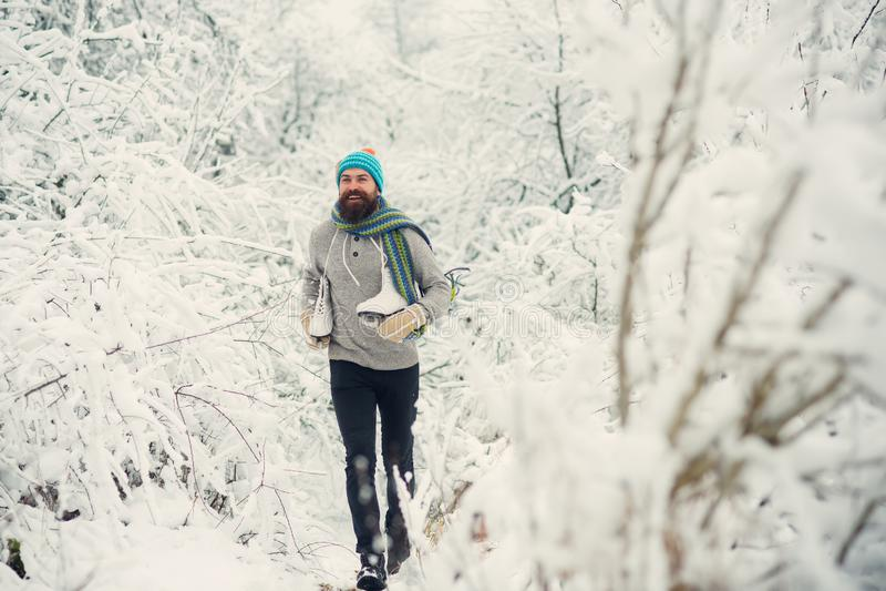 De wintersport en rust, Kerstmis stock afbeelding