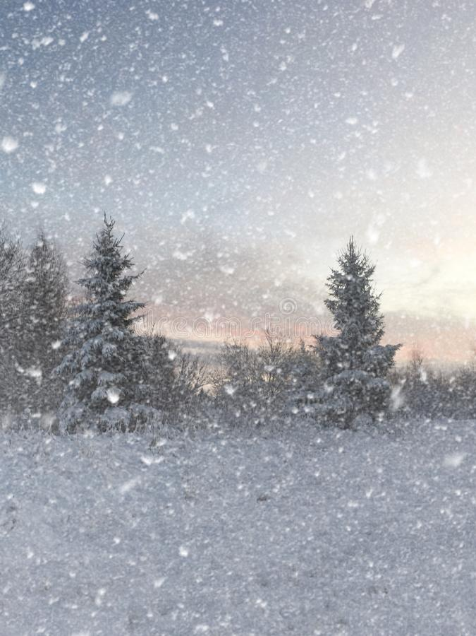 De wintersprookjesland royalty-vrije stock afbeelding