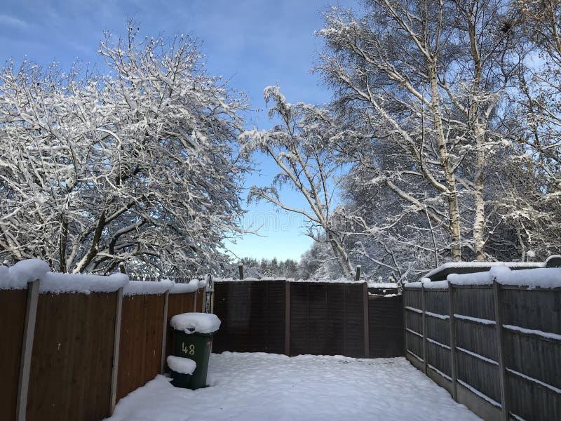 De wintersprookjesland bij Kerstmis stock afbeelding