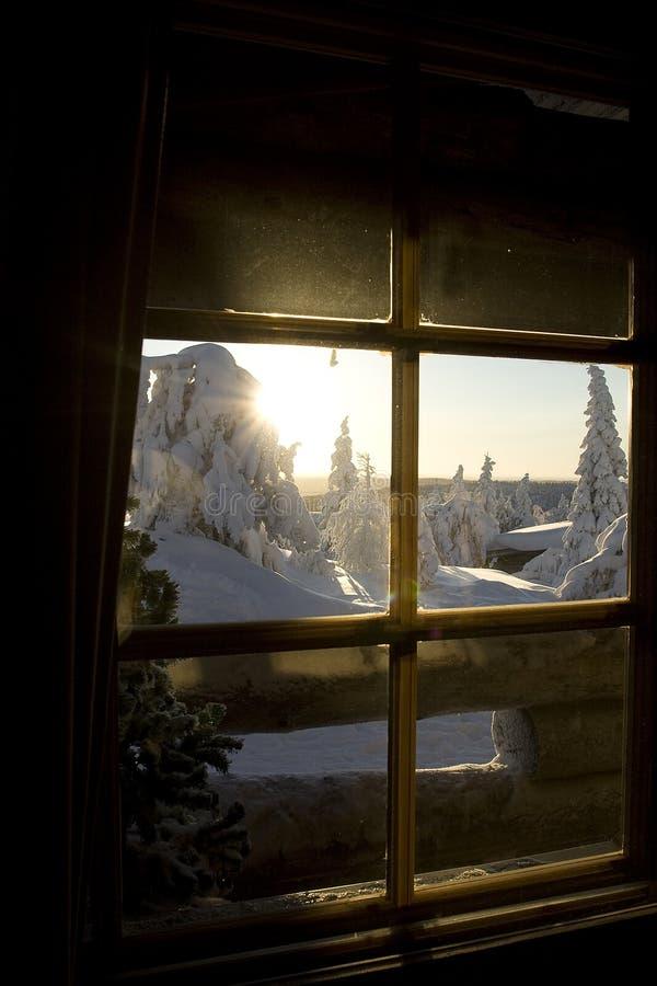 De wintersprookjesland van Lapland stock afbeeldingen