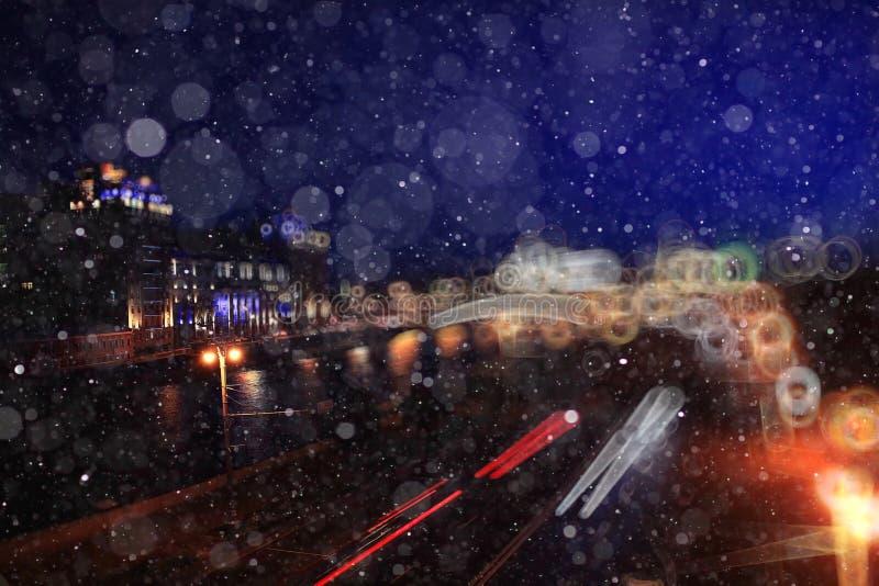 De winterstad royalty-vrije stock afbeelding