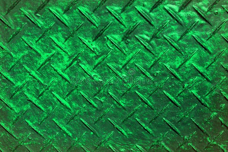 De wintertaling, sea-green grungekruis broedde metaaltextuur uit - aardige abstracte fotoachtergrond stock foto