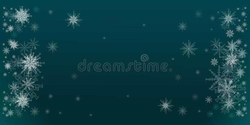 De wintertaling van de de winterillustratie met sneeuwvlokkensnuisterijen Kerstmis, Nieuwjaarachtergrond vector illustratie