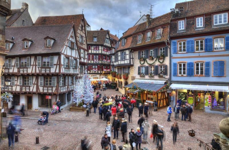 De wintervakantie in Colmar royalty-vrije stock fotografie