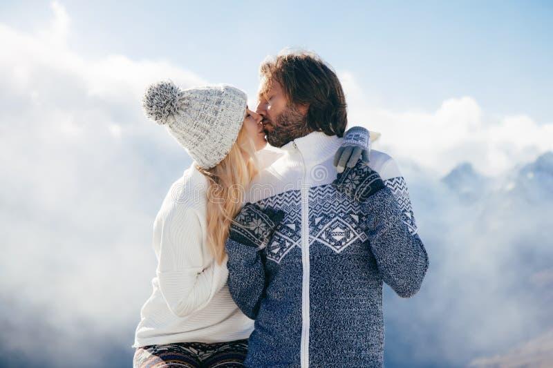 De wintervakantie in sneeuw stock fotografie