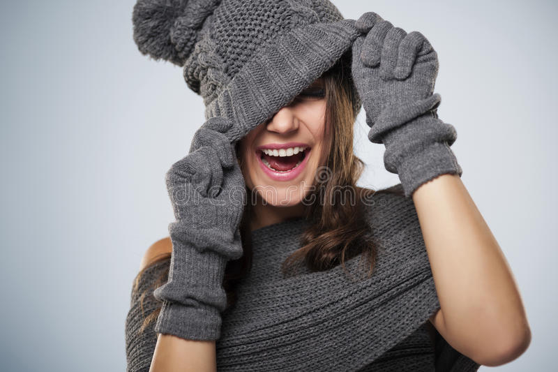 De wintervrouw stock foto