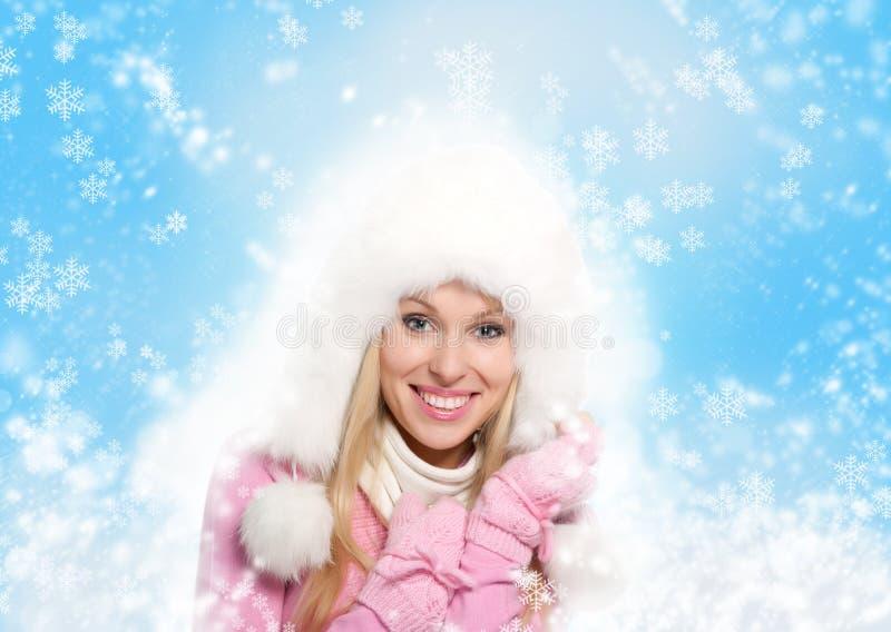 De wintervrouw stock afbeelding
