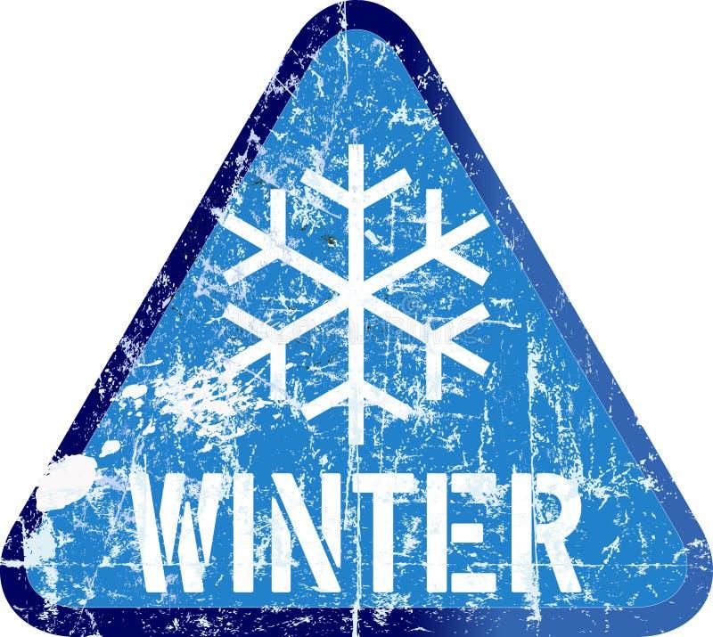 De winterwaarschuwingsbord, vectorillustratie vector illustratie