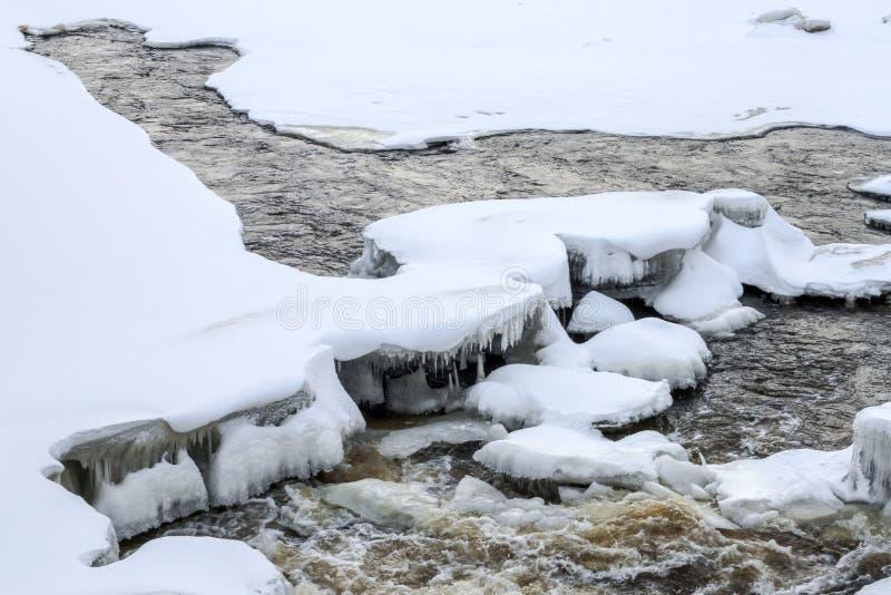 De winterwater royalty-vrije stock foto's