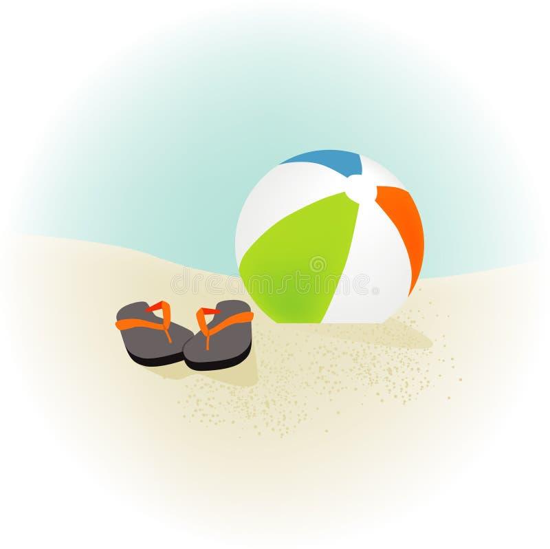 De Wipschakelaars van de Bal van het strand stock illustratie