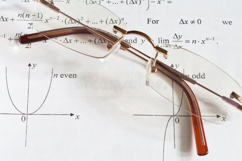 De wiskunde van het onderwijs stock foto
