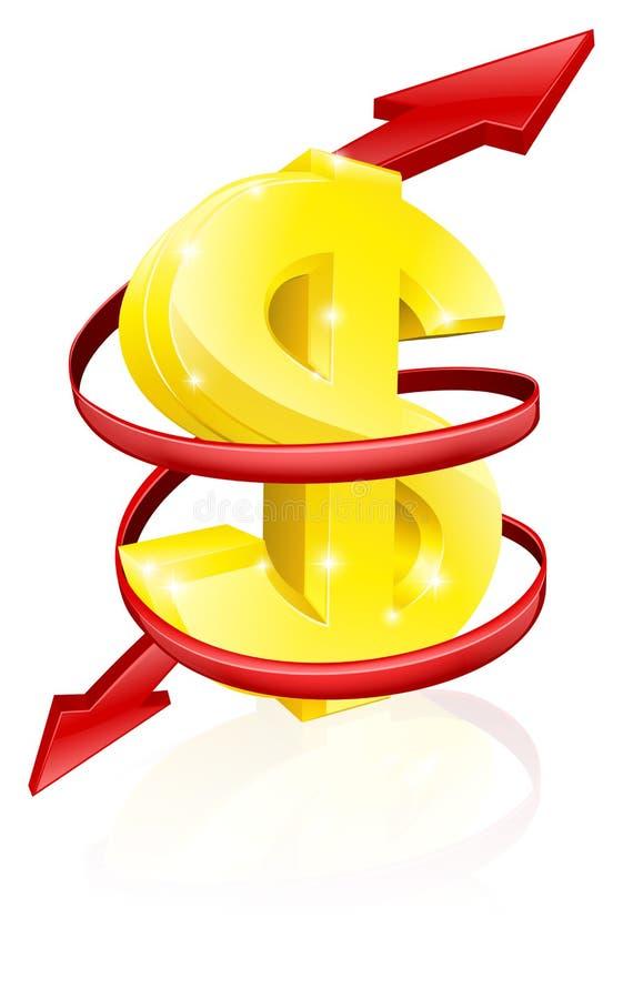 De wisselkoersconcept van de dollar vector illustratie