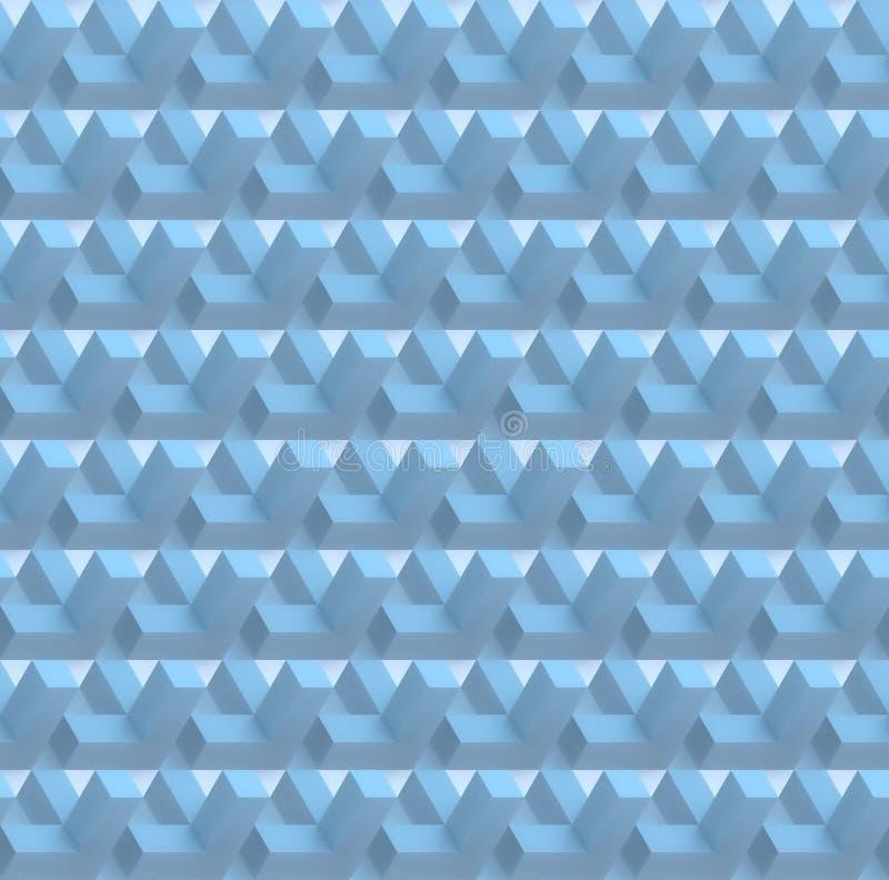 De witte abstracte geometrische naadloze 3D achtergrond geeft terug stock foto