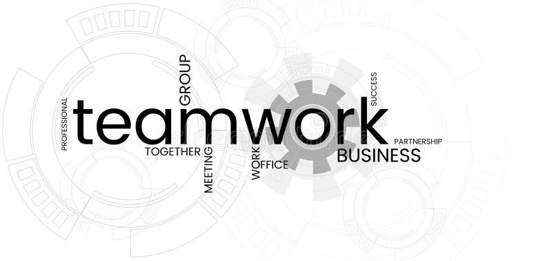 De witte achtergrond van de bedrijfsgroepswerkbanner Word CLOUD stock illustratie