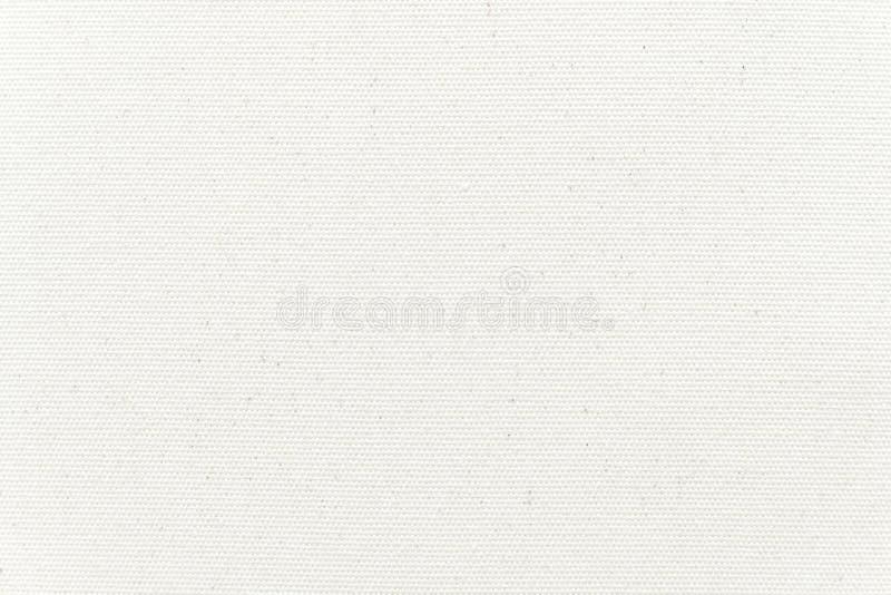 De witte achtergrond van de canvastextuur Close-up stock afbeelding
