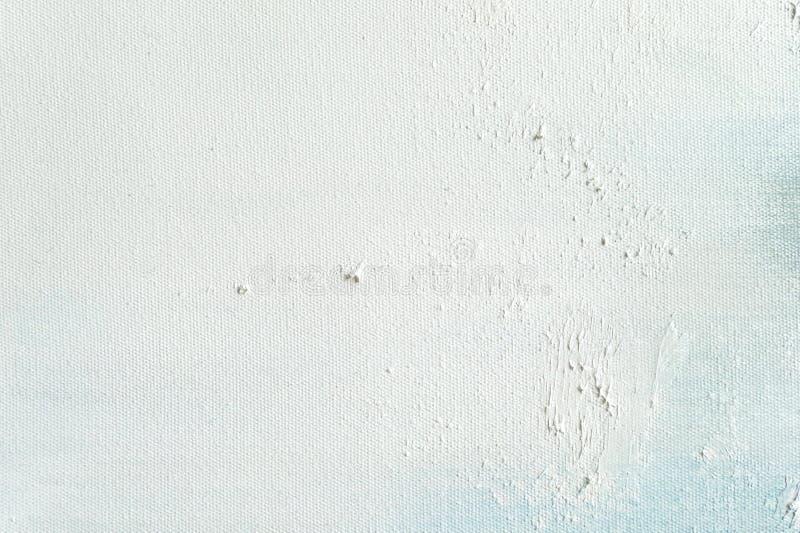 De witte achtergrond van de canvastextuur voor en kunst die schilderen trekken royalty-vrije stock foto's