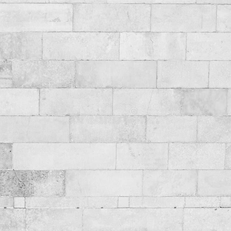 De witte achtergrond van de bakstenen muurtextuur grunge stock foto