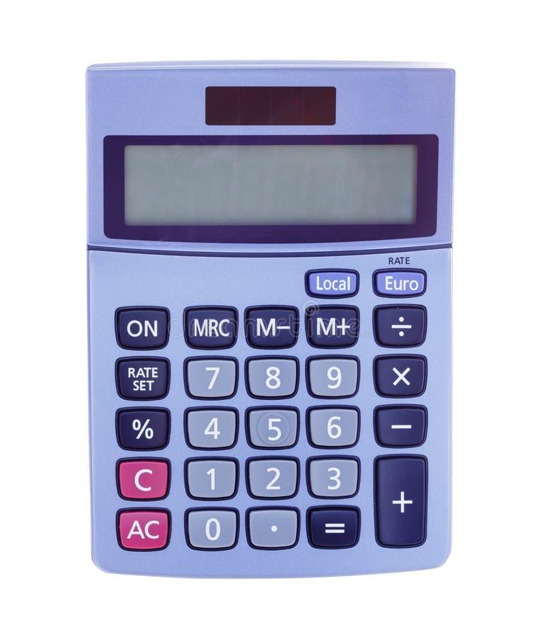 De witte achtergrond van de calculator stock afbeelding