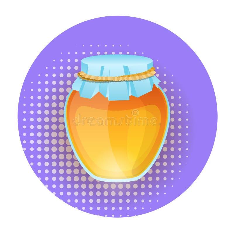 De Witte Achtergrond van Honey Pot Icon Isolated On vector illustratie