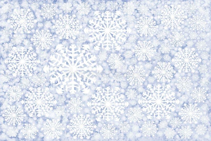 de witte achtergrond van de sneeuwvlokkenwinter royalty-vrije stock foto