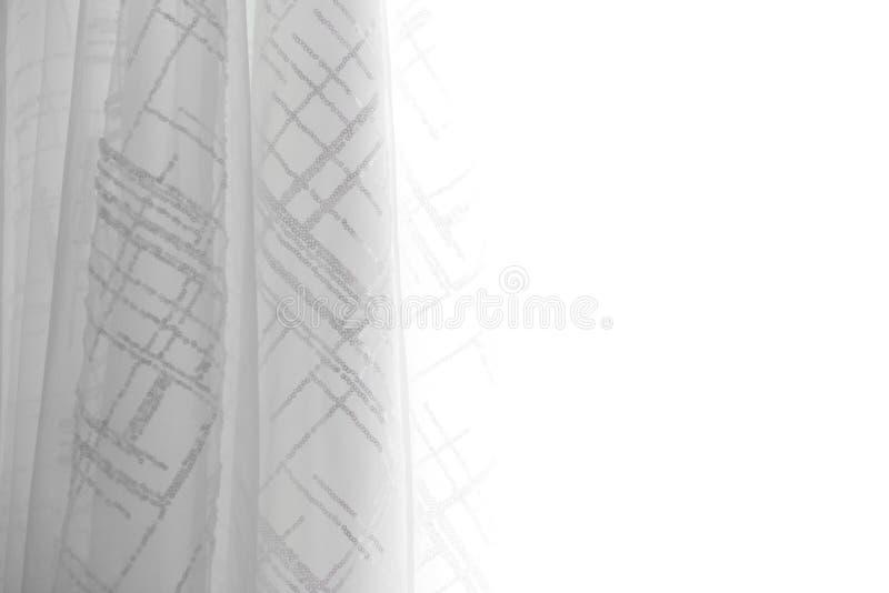 De witte achtergrond van de stoffentextuur, golvende stof royalty-vrije stock fotografie