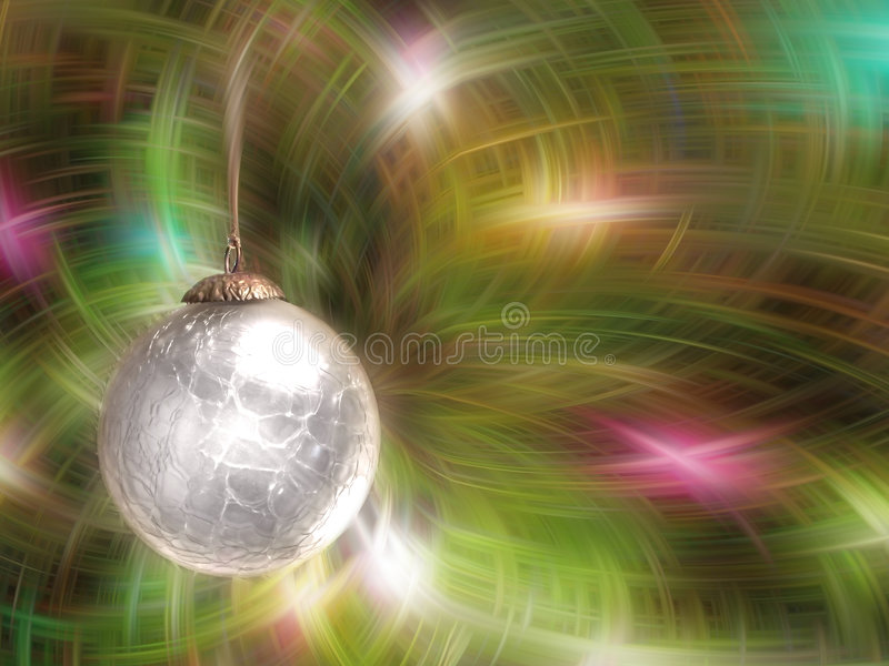 De witte Bal van Kerstmis vector illustratie