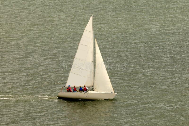 De witte Boot van het Zeil royalty-vrije stock afbeelding
