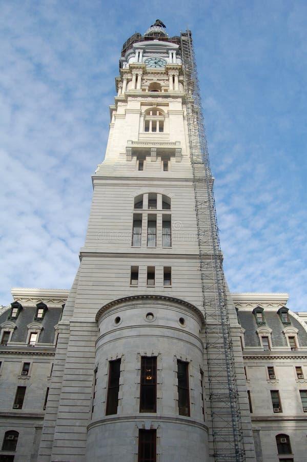 De witte bouw in Philadelphia stock foto's
