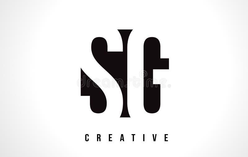 De Witte Brief Logo Design van SG S G met Zwart Vierkant royalty-vrije illustratie