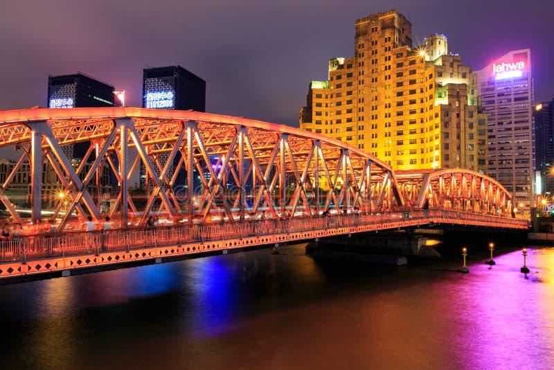 De witte brug overzee stock foto's