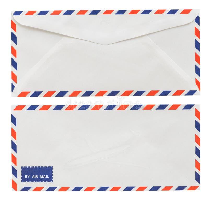De witte die envelop van Thailand op witte achtergrond met Clippi wordt geïsoleerd stock foto's