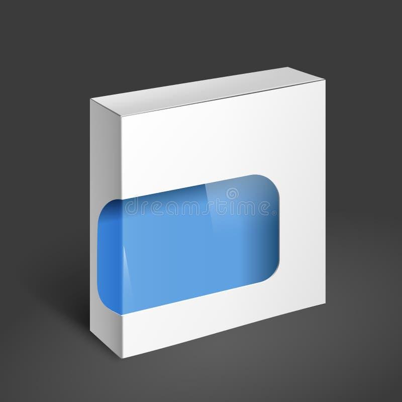De witte Doos van het Pakket Modelmalplaatje vector illustratie