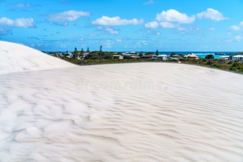 De witte duinen van het lancelinzand, westelijk Australië 2 stock afbeelding