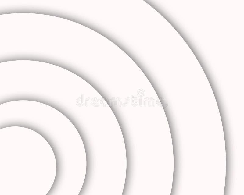 De witte en grijze achtergrond van de kleurengradiënt, modern en elegant stock illustratie