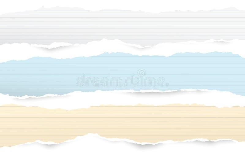 Download De Witte En Kleurrijke Gescheurde Gevoerde Horizontale Notadocument Stroken Voor Tekst Of Bericht Plakten Op Witte Achtergrond Vector Illustratie - Illustratie bestaande uit document, notepad: 114225646