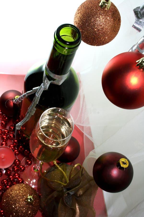 De witte fles van het wijnglas stock foto's