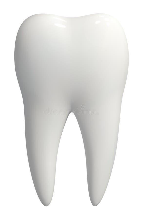 De witte geïsoleerde vector van het tandpictogram vector illustratie